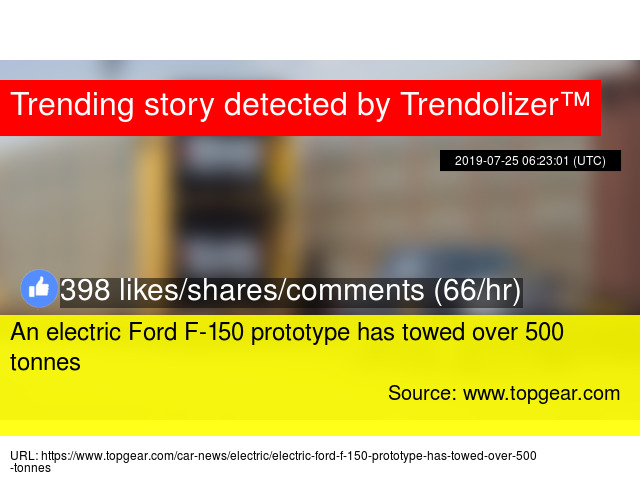An electric Ford F-150 prototype has towed over 500 tonnes