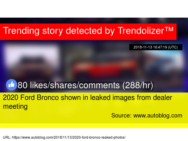 2020 Ford Bronco Shown In Leaked Images From Dealer Meeting