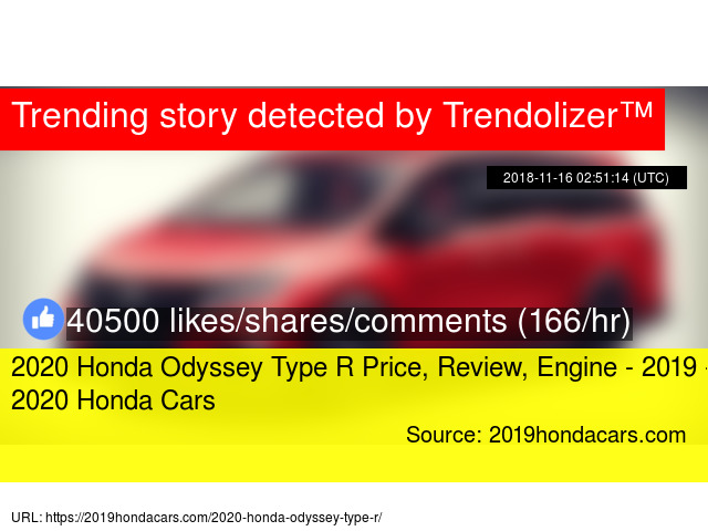 2020 Honda Odyssey Type R Price Review Engine 2019 2020 Honda Cars