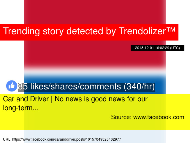 Car and Driver | No news is good news for our long-term