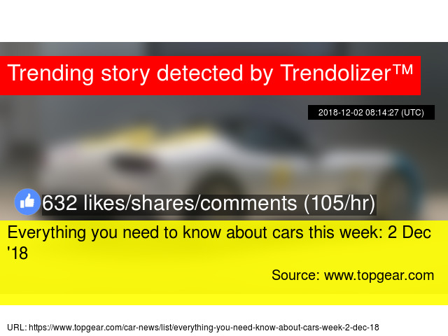 Everything you need to know about cars this week: 2 Dec '