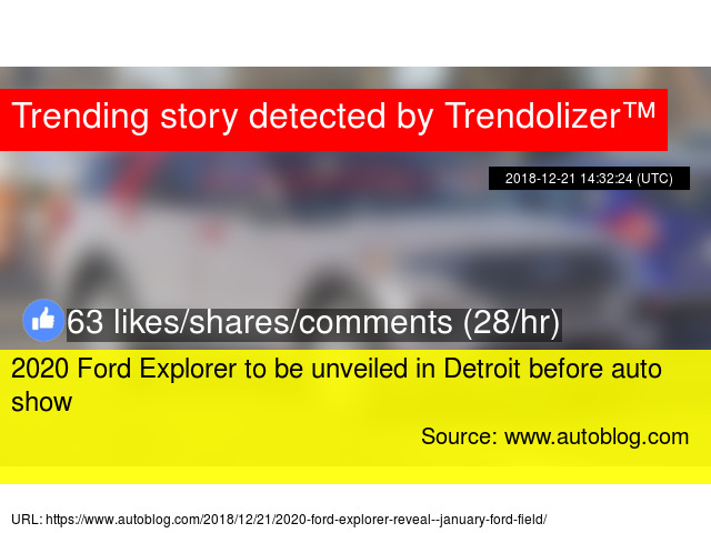 2020 Ford Explorer To Be Unveiled In Detroit Before Auto Show