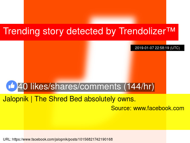 Jalopnik | The Shred Bed absolutely owns