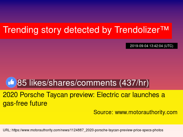 2020 Porsche Taycan preview: Electric car launches a gas