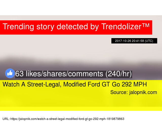 Watch A Street Legal Modified Ford Gt Go  Mph Stats