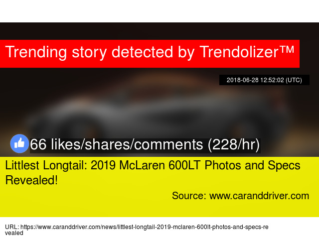 Littlest Longtail 2019 Mclaren 600lt Photos And Specs Revealed