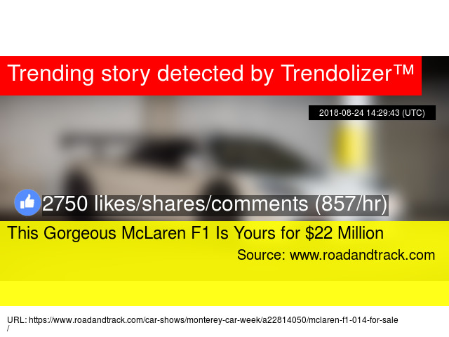 This Gorgeous McLaren F1 Is Yours for $22 Million