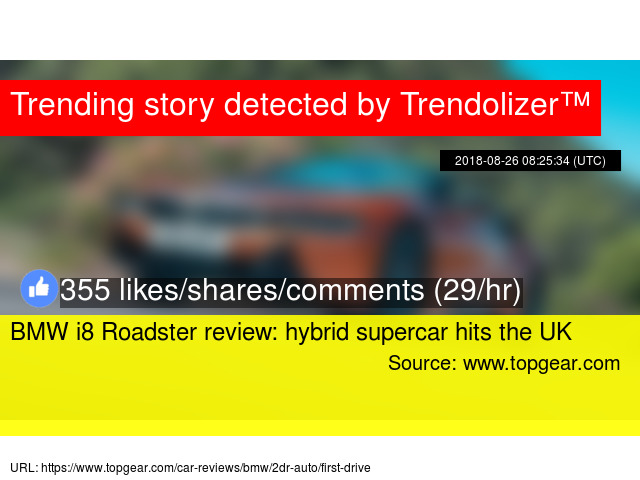 Bmw I8 Roadster Review Hybrid Supercar Hits The Uk