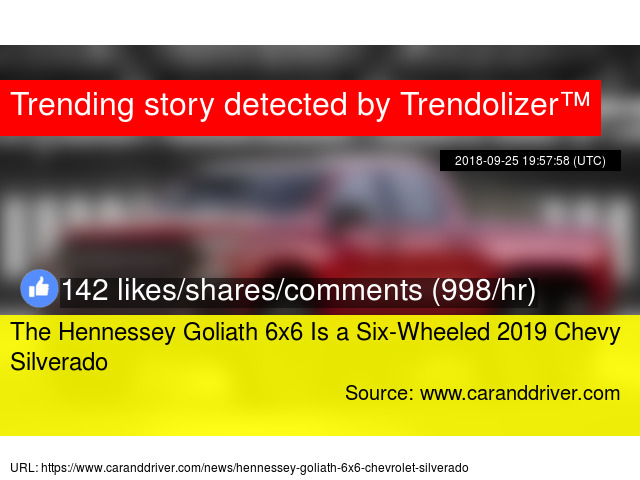 The Hennessey Goliath 6x6 Is A Six Wheeled 2019 Chevy Silverado